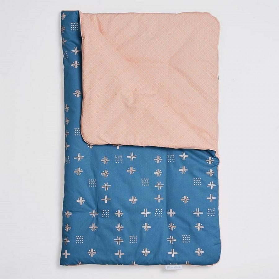 Bim Bla - Kołderka niemowlęca Orange Blue 75x95 cm - Esy Floresy