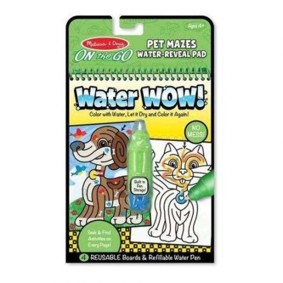 Melissa & Doug - Wodna Kolorowanka Water Wow! - Zwierzakowe Labirynty - Esy Floresy