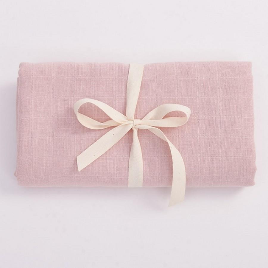 Bim Bla - Otulacz Muślinowy z bawełny organicznej Jasny Róż  - Esy Floresy