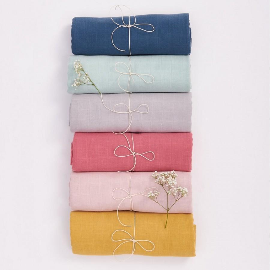 Bim Bla - Otulacz Muślinowy z bawełny organicznej Różowy - Esy Floresy
