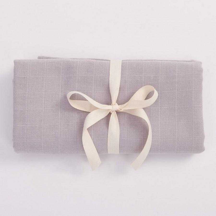 Bim Bla - Otulacz Muślinowy z bawełny organicznej Szary | Esy Floresy