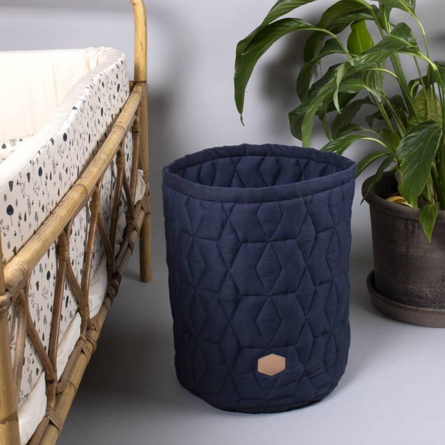 Filibabba - Pojemnik materiałowy na zabawki 43 x 35 x 35 cm Dark Blue - Esy Floresy