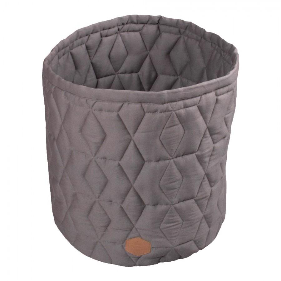 Filibabba - Pojemnik materiałowy na zabawki 43 x 35 x 35 cm Dark Grey - Esy Floresy