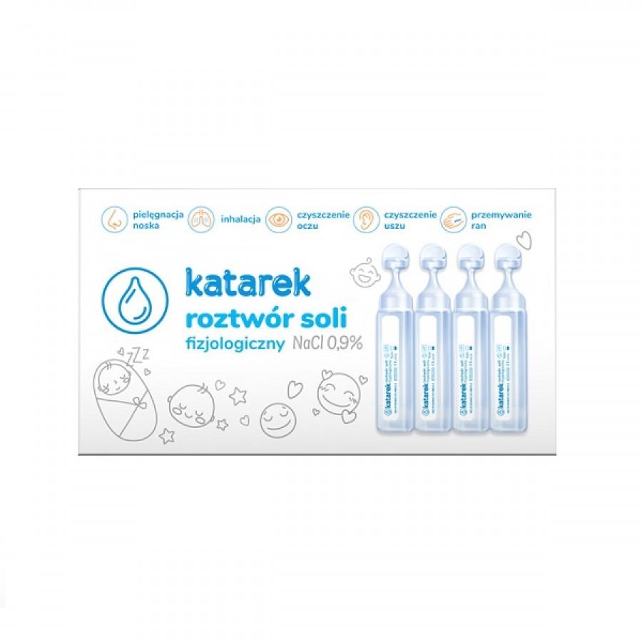Katarek - Roztwór soli fizjologicznej NaCl 0,9% 10x5 ml - Esy Floresy