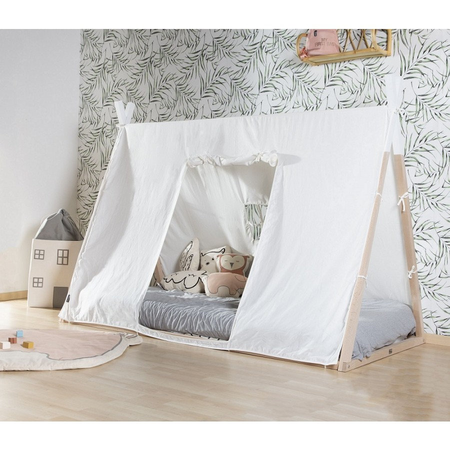 Childhome - Poszycie do łóżka Tipi 90 x 200 cm White - Esy Floresy