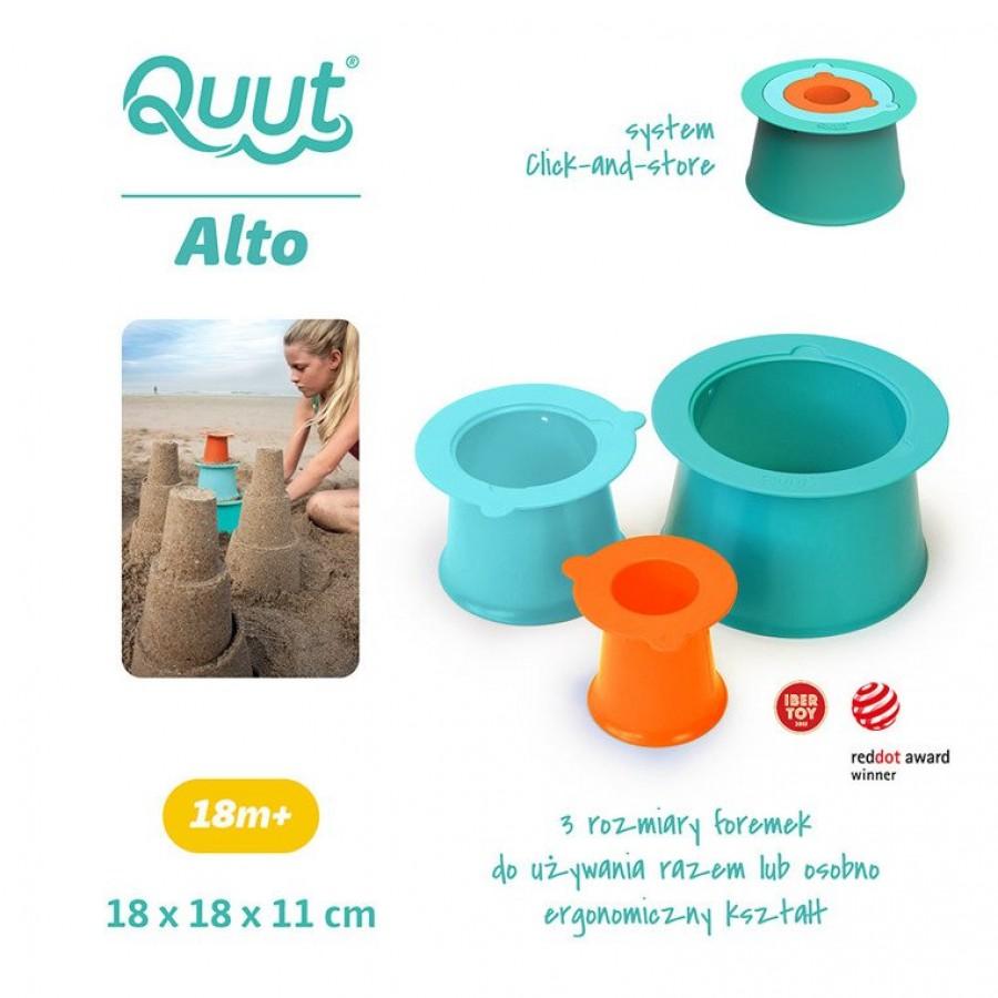 QUUT - Zestaw 3 foremek do piasku Wieża Alto Lagoon Green + Vintage Blue - Esy Floresy
