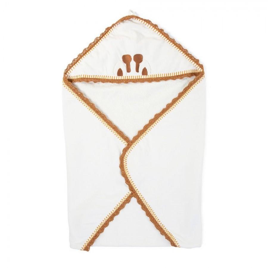 Childhome - Ręcznik z kapturkiem + myjka Jersey Crochet - Esy Floresy