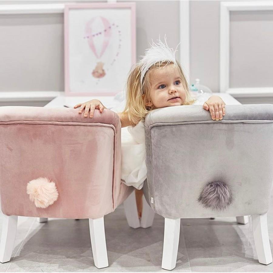 Bon Bon Kids - Fotelik tapicerowany Bunny szary - Esy Floresy