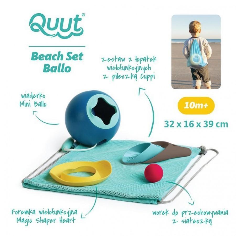 QUUT - Set plażowy Mini Ballo + Cuppi + Magic Shapers Heart w worku - Esy Floresy