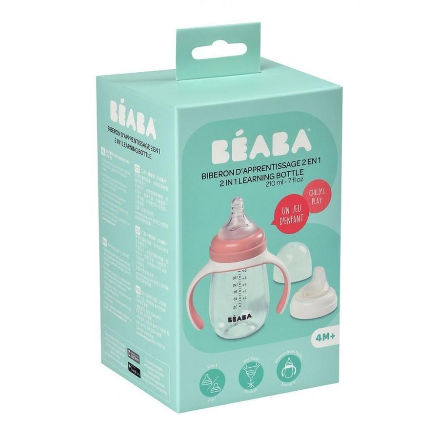 Beaba - Butelka treningowa 2 w 1 tritanowa 210 ml old pink - Esy Floresy