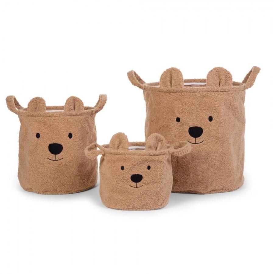 Childhome - Pluszowy pojemnik na zabawki 25 x 20 x 20 cm Teddy Bear - Esy Floresy