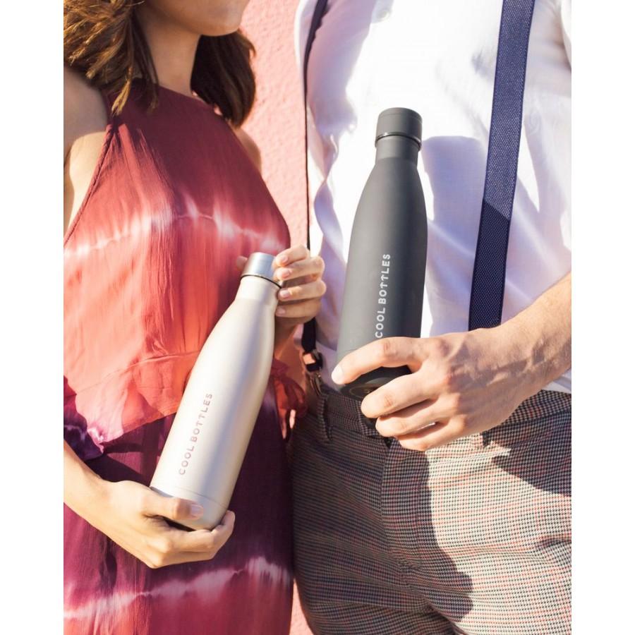 Cool Bottles - Butelka termiczna 500 ml Mono Black - Esy Floresy