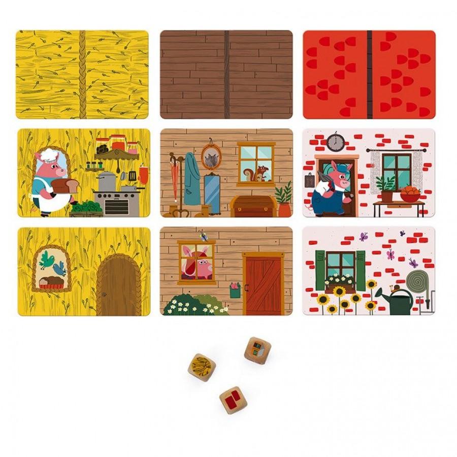 Janod - Gra zręcznościowa Trzy świnki - Esy Floresy