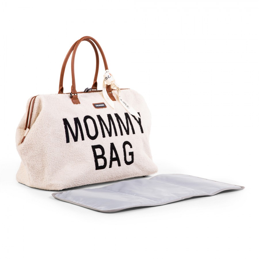 Childhome - Torba Mommy Bag Teddy Bear White (Limited Edition) - Esy Floresy