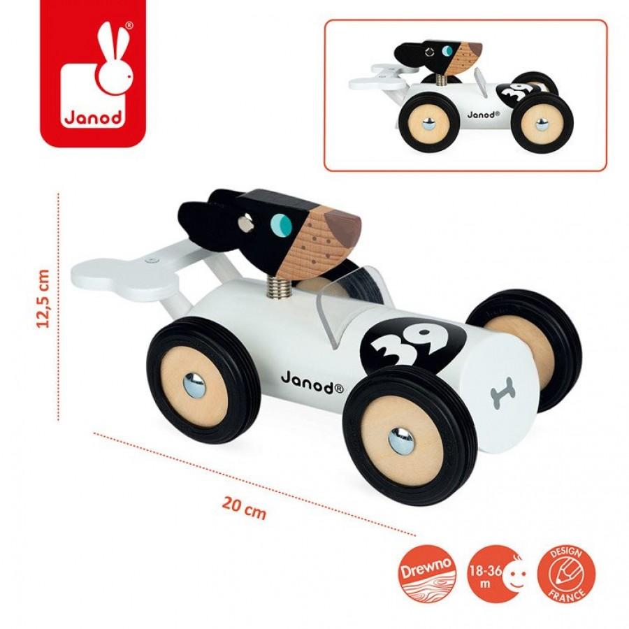 Janod - Drewniany samochód w stylu retro Spirit Bernard - Esy Floresy