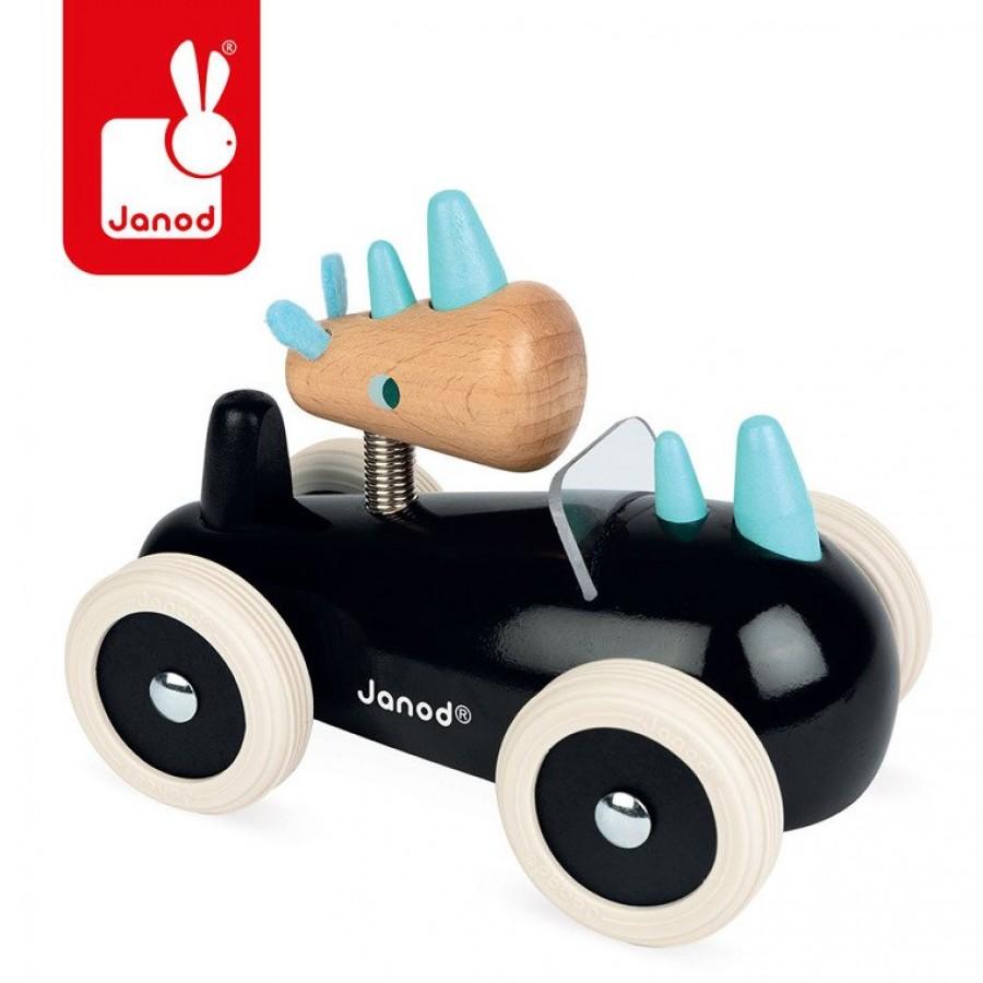 Janod - Drewniany samochód w stylu retro Spirit Rony - Esy Floresy