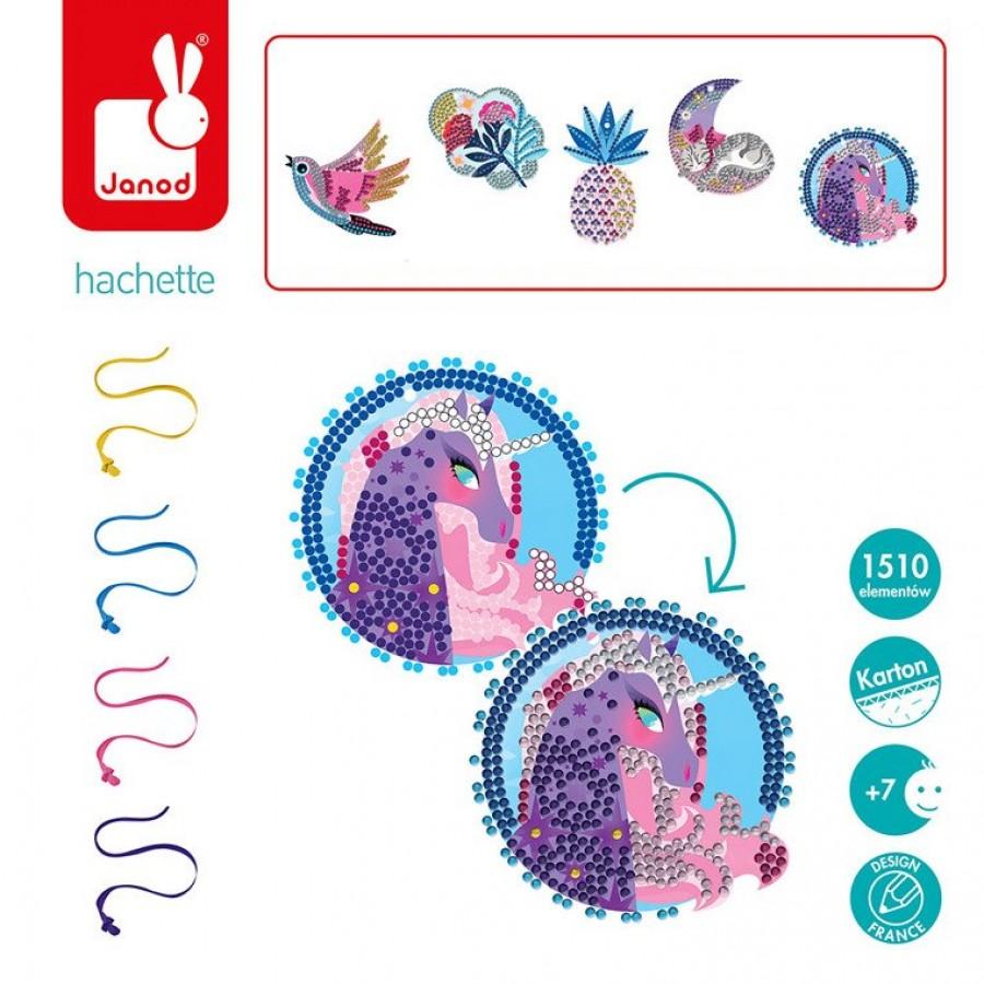 Janod - Zestaw kreatywny Cudowne kryształki Medaliony - Esy Floresy