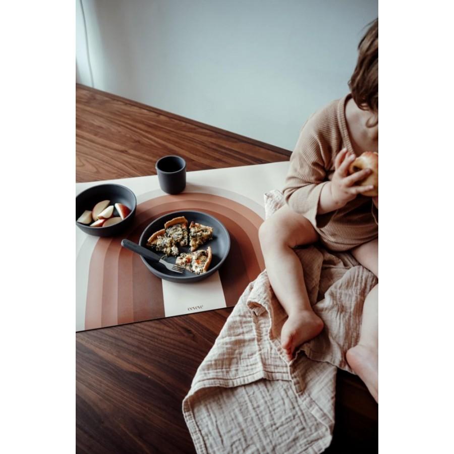 Filibabba - Silikonowy zestaw obiadowy Powder blue - Esy Floresy