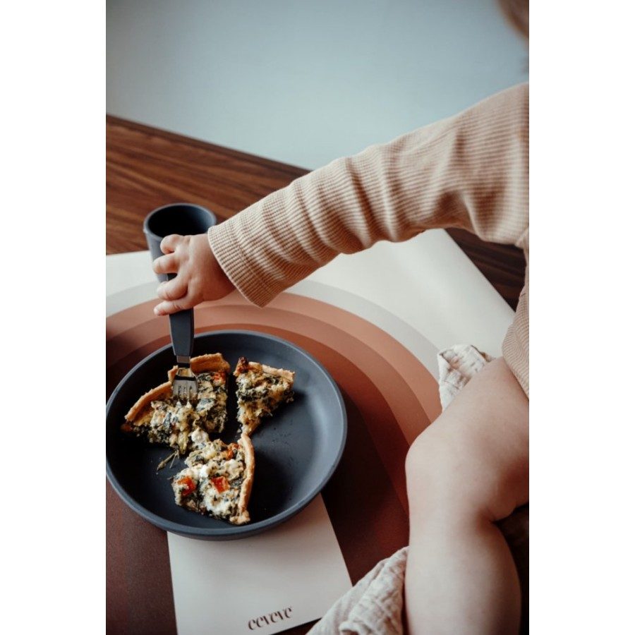 Filibabba - Silikonowy zestaw obiadowy Stone grey - Esy Floresy