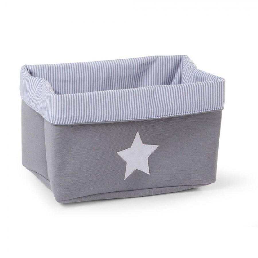 Childhome - Pudełko płócienne 32 x 20 x 20 cm Grey Stripes - Esy Floresy