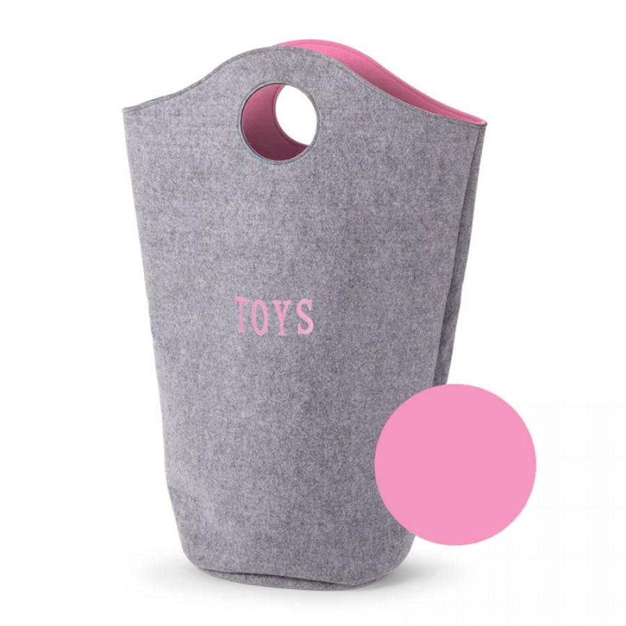 Childhome - Filcowa torba na zabawki różowy 31x32x72 - Esy Floresy