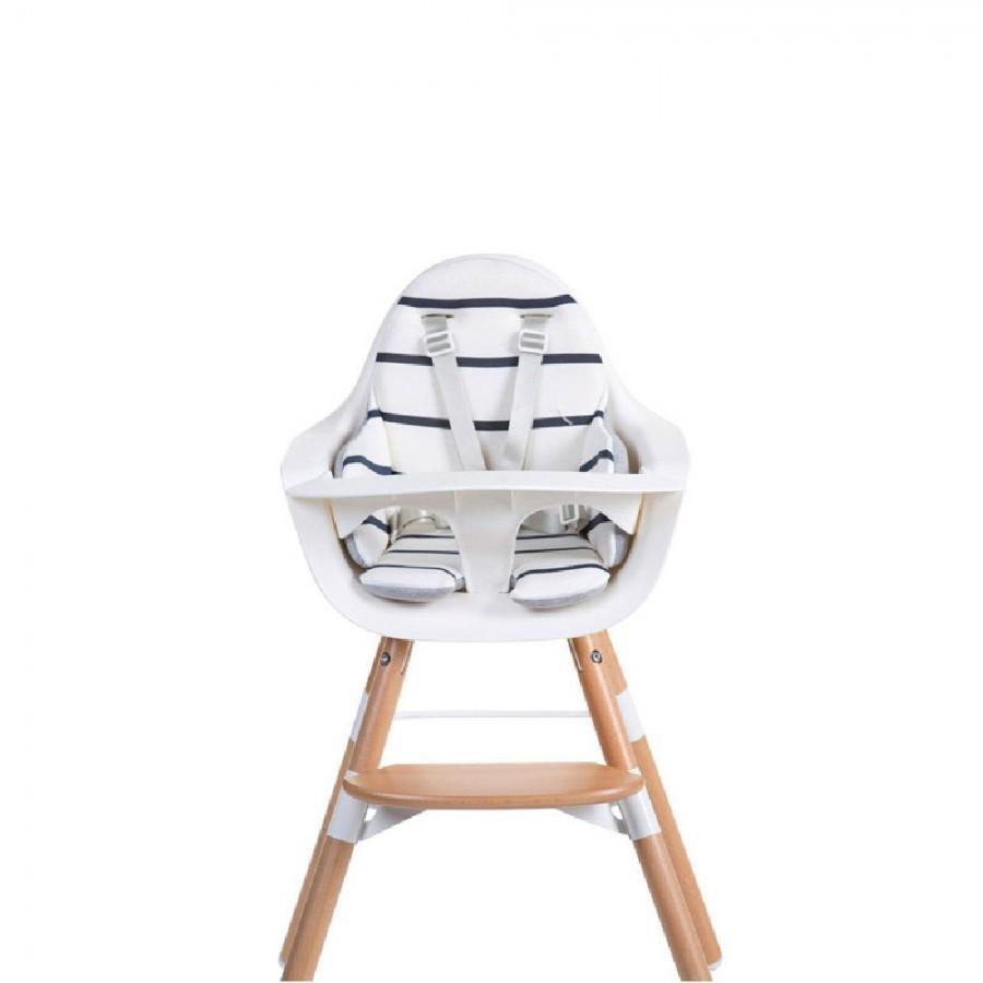 Childhome - Dwustronny ochraniacz do krzesełka Evolu 2 Jersey Grey/Marin - Esy Floresy