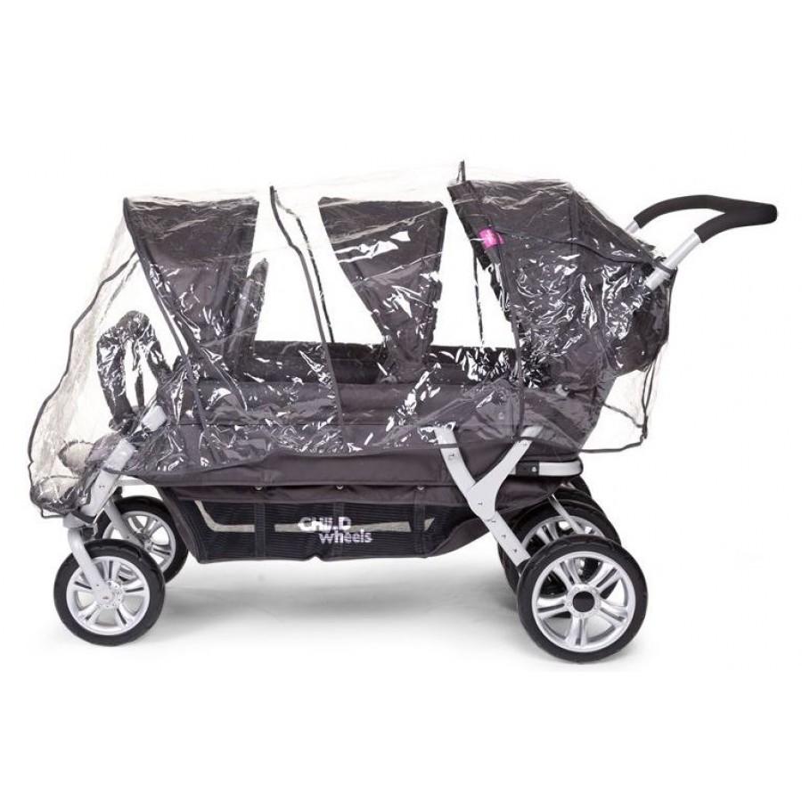 Childhome - Wózek sześcioosobowy Sixseater 2 Autobrake - Esy Floresy