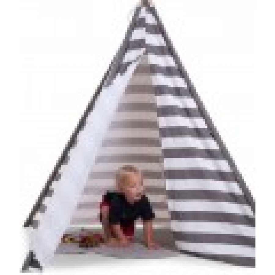 Childhome - Namiot Tipi Grey/White Stripes - Esy Floresy