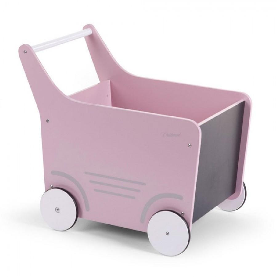 Childhome - Drewniany pchaczek na zabawki Soft Pink - Esy Floresy