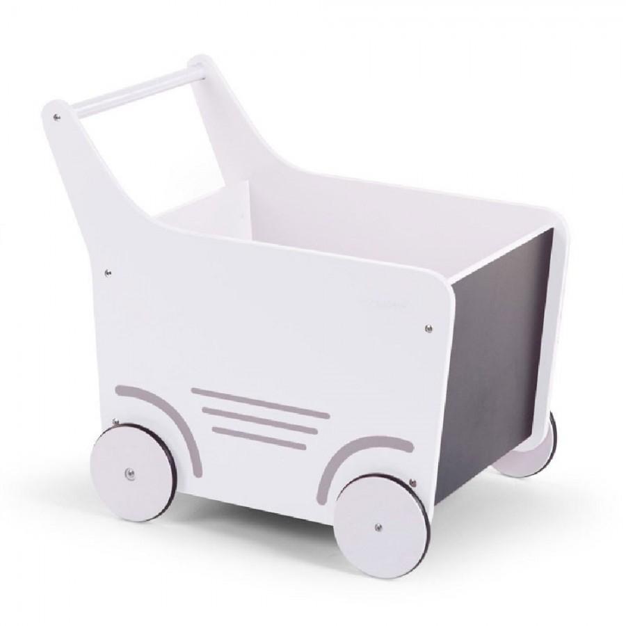 Childhome - Drewniany pchaczek na zabawki White - Esy Floresy