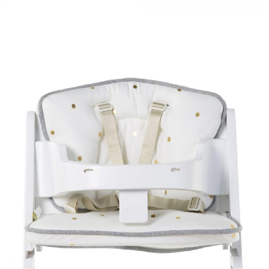 Childhome - Ochraniacz do krzesełka Lambda Jersey Gold Dots - Esy Floresy