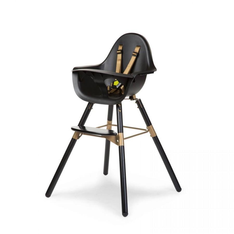 Childhome - Krzesełko do karmienia Evolu 2 Black/Gold - Esy Floresy
