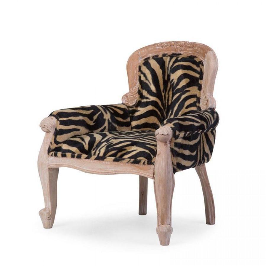 Childhome - Fotel mahoniowy tron ZEBRA - Esy Floresy