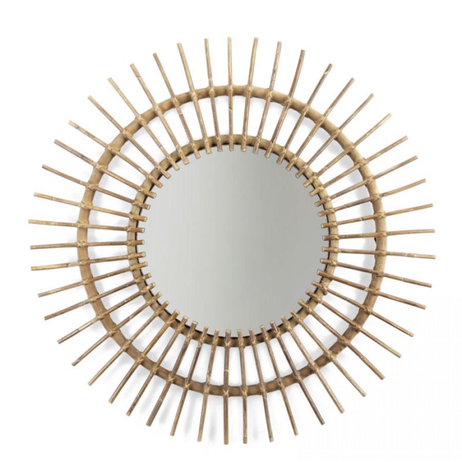 Childhome - Lustro rattanowe Aura 90 cm - Esy Floresy