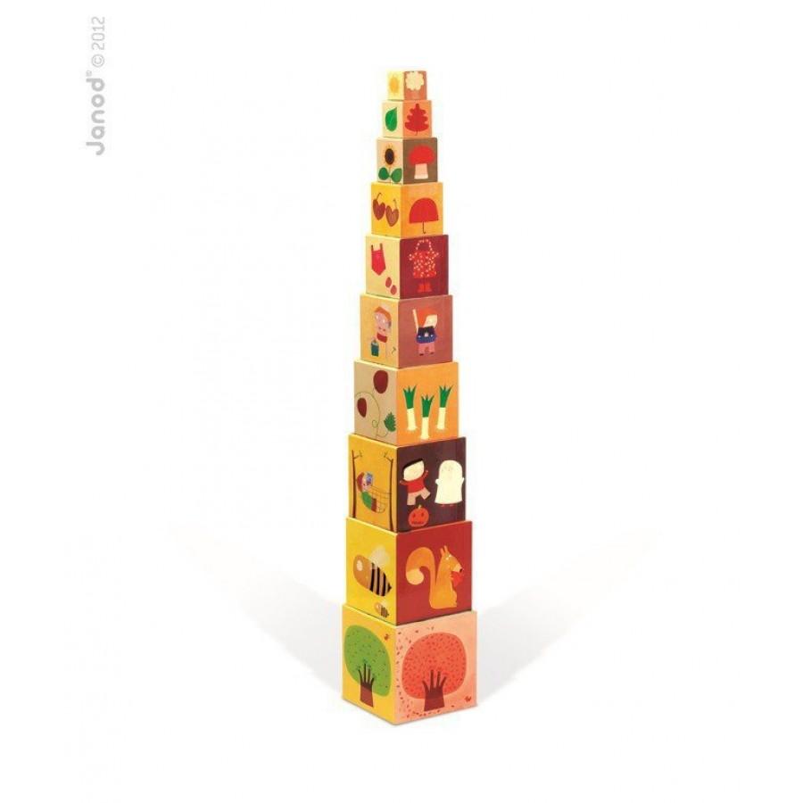 Janod - Piramida wieża 10 kostek Pory roku - Esy Floresy