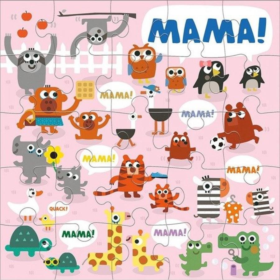 Mudpuppy - Puzzle podłogowe Jumbo Mama 25 elementów 2+  - Esy Floresy