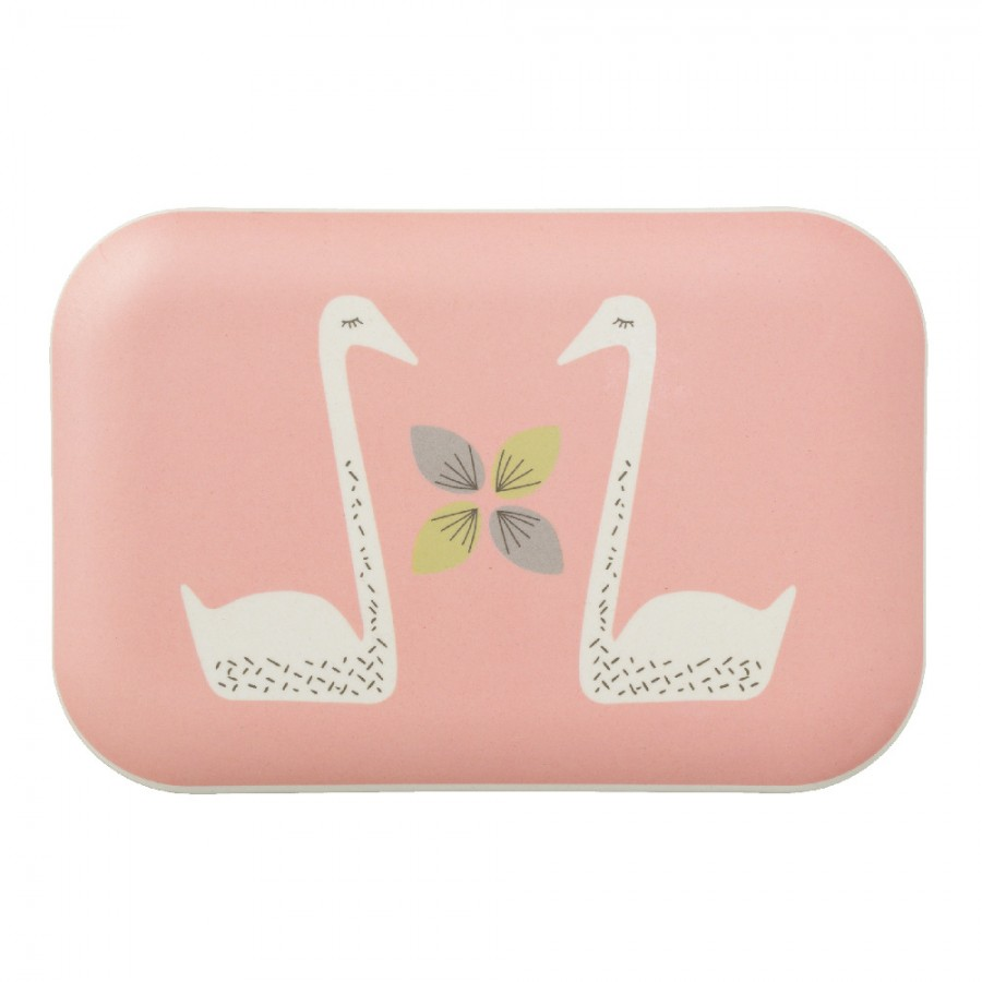 Fresk - Bambusowe pudełko śniadaniowe Łabędź - Esy Floresy