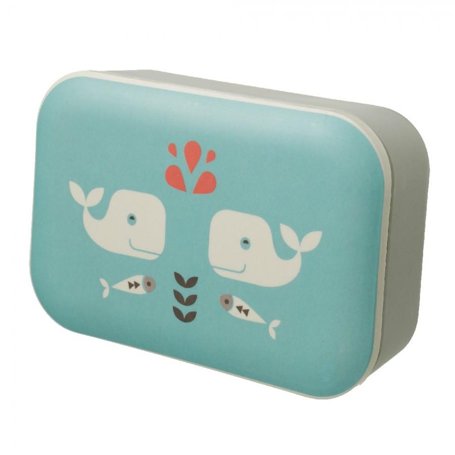 Fresk - Bambusowe pudełko śniadaniowe Wieloryb - Esy Floresy