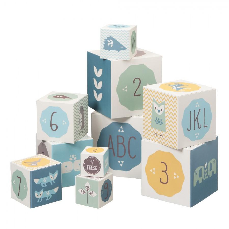 Fresk - Piramida edukacyjna Alfabet i Cyfry Blue - Esy Floresy