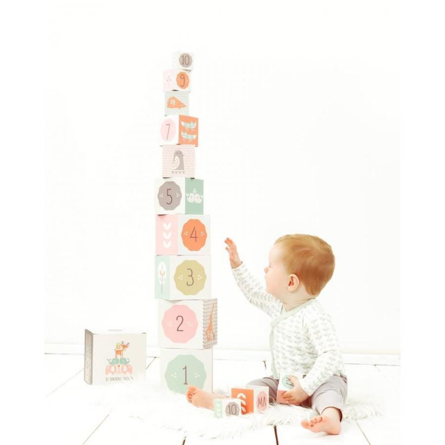 Fresk - Piramida edukacyjna Alfabet i Cyfry Orange - Esy Floresy