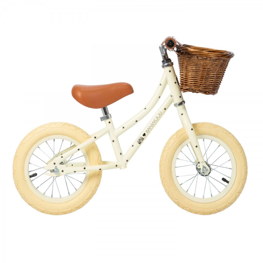 Banwood - FIRST GO! Rowerek biegowy Bonton Cream - Esy Floresy