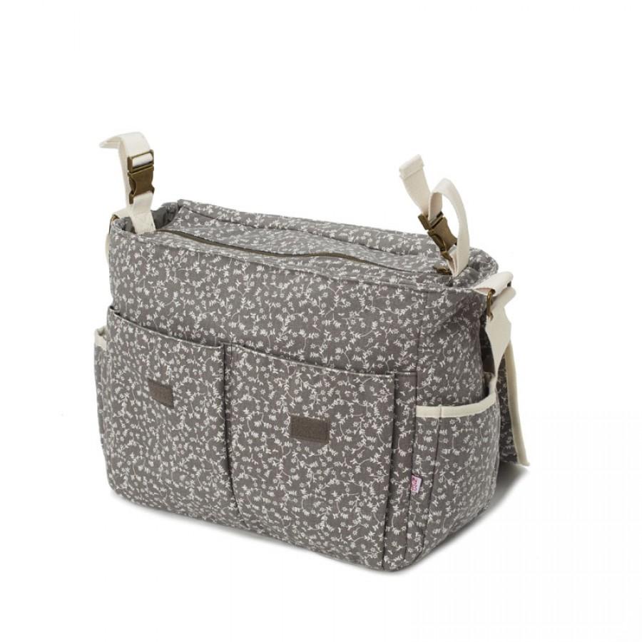My Bag's - Torba do wózka Flap Bag My Liberty Flowers dark grey - Esy Floresy