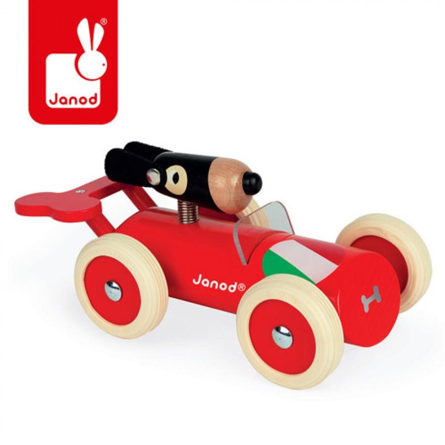 Janod - Drewniany samochód w stylu retro Spirit Marco - Esy Floresy
