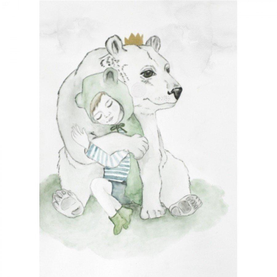 Ilustracja Leon i Teodor 30x40 | Esy Floresy