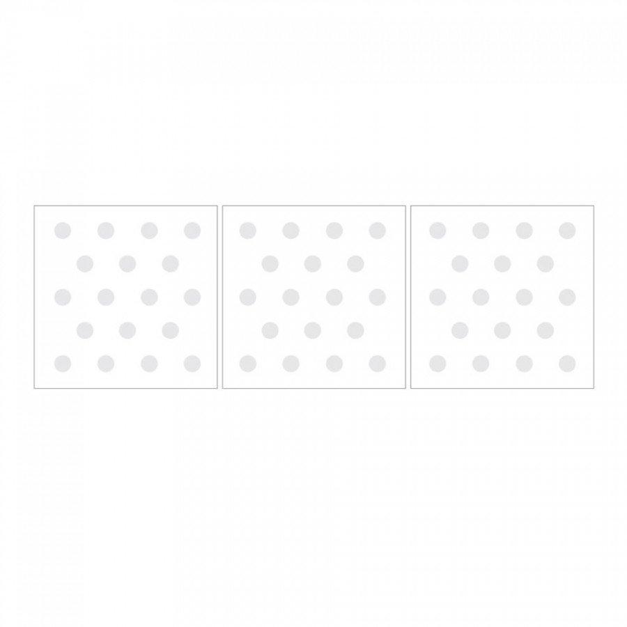 Dekornik - Naklejka Kropeczki Jasnoszare Basic | Esy Floresy