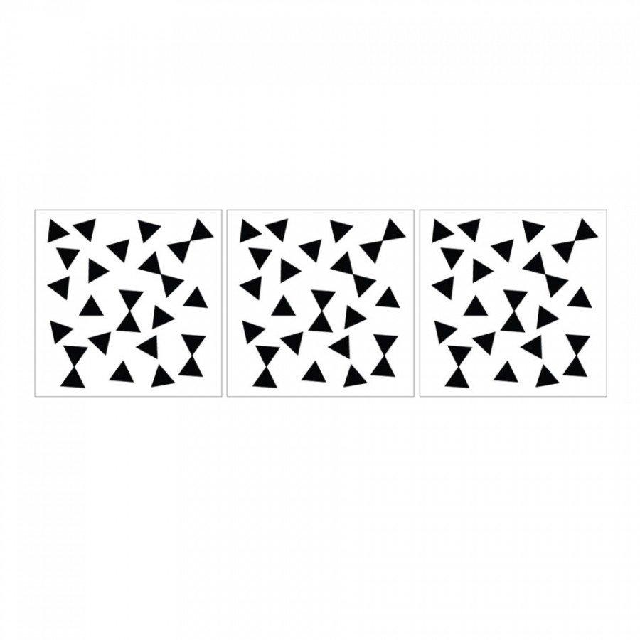 Dekornik - Naklejka Trókąty Czarne | Esy Floresy
