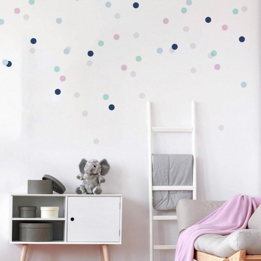 Dekornik - Naklejka Confetti Lila | Esy Floresy