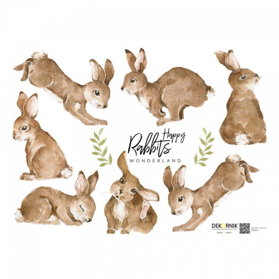 Dekornik - Naklejka Happy Rabbits | Esy Floresy