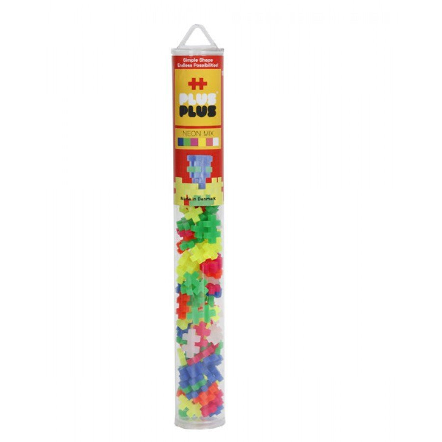 Plus-Plus, Mini Neon Tuba - 100 szt  | Esy Floresy