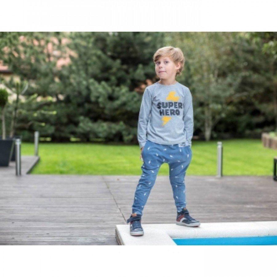 Holo Kids- Koszulka Super Hero Szara | Esy Floresy